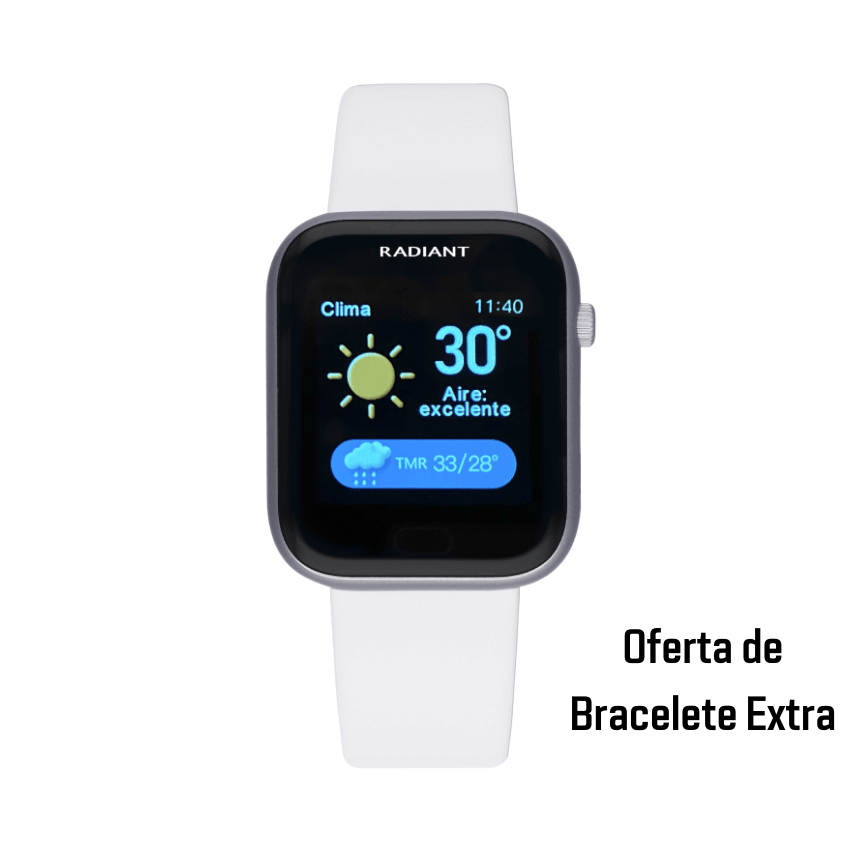 Smartwatch Radiant Manhattan Prateado
